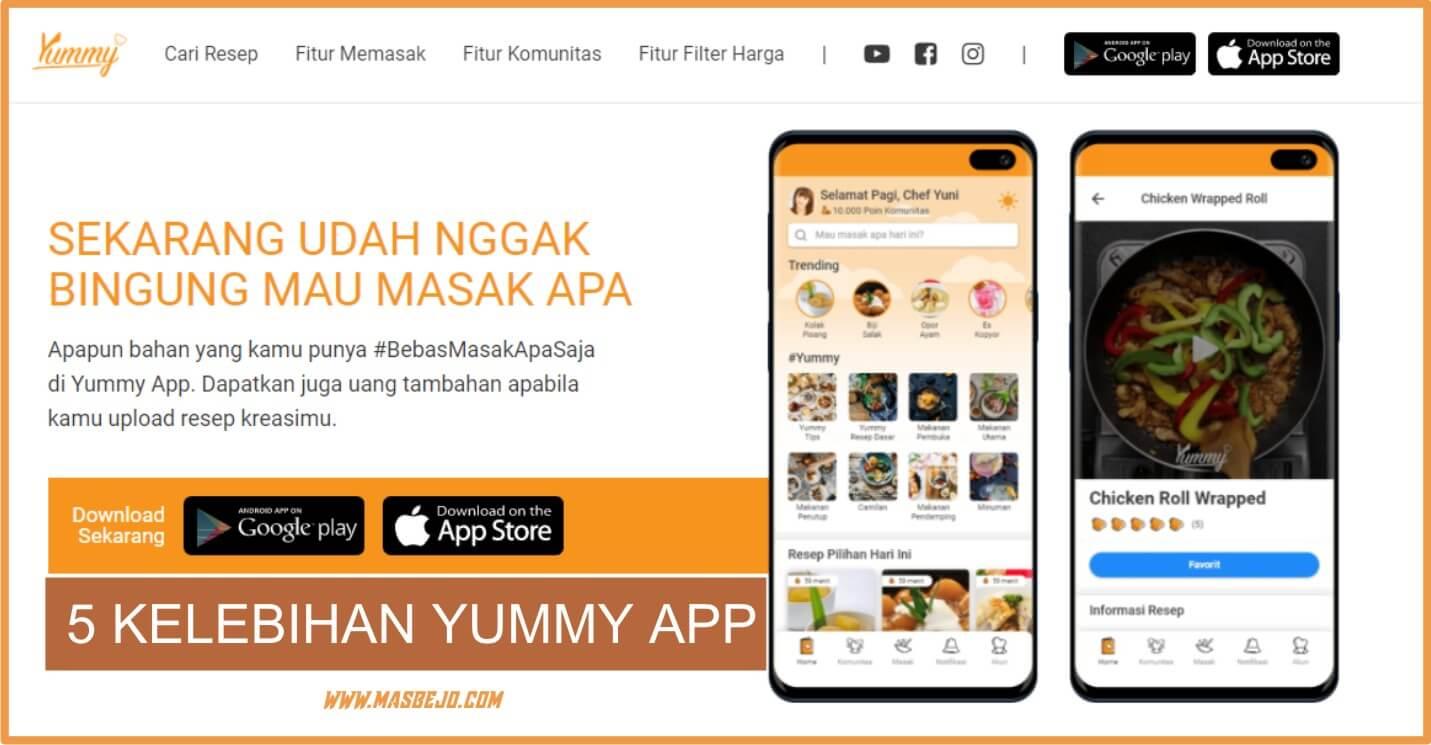 5 KelebihanYummy App