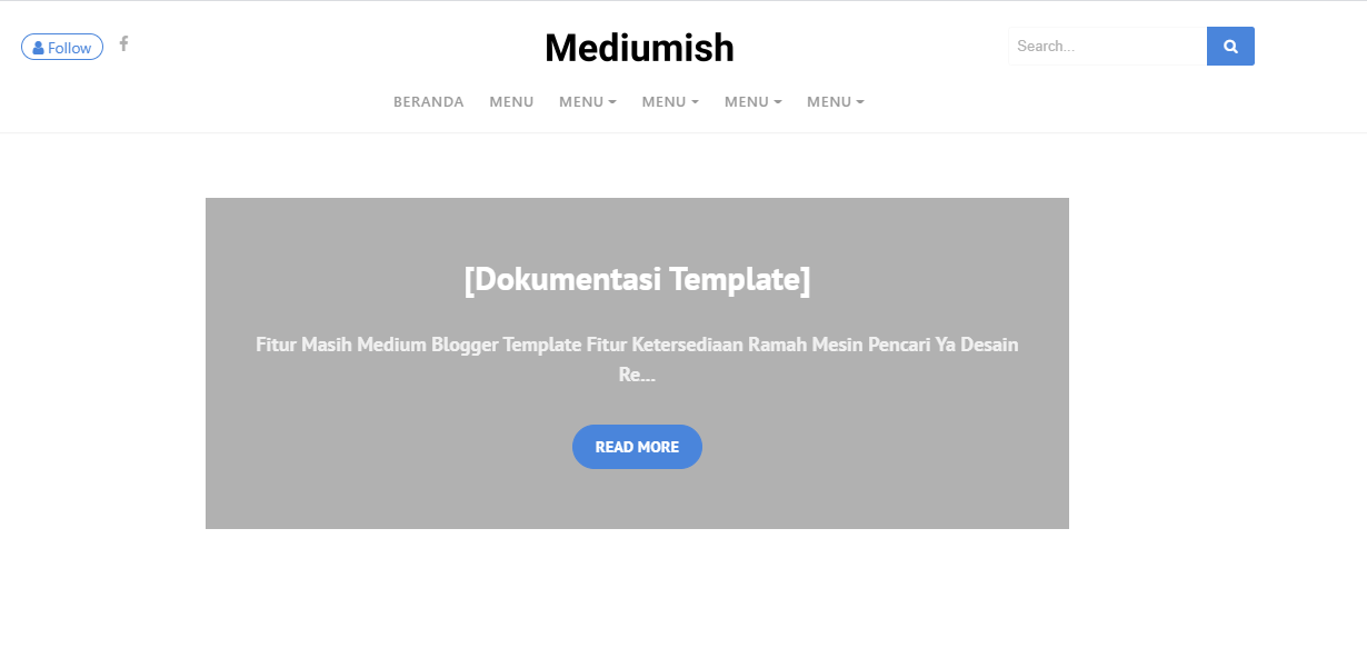 Template Blogger Mirip Mediumish