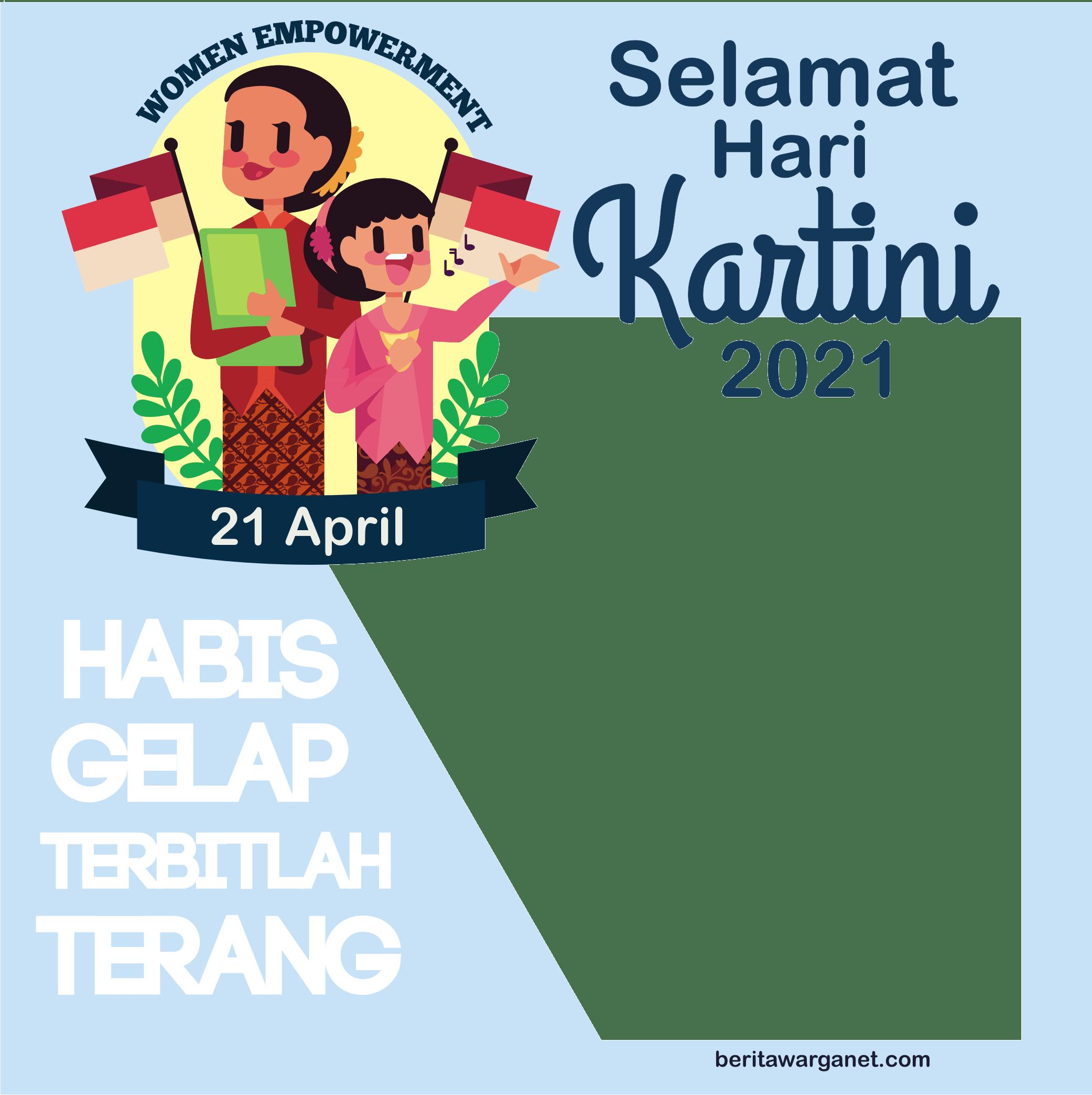 Bingkai  Twibbon Hari Kartini 2021 PNG