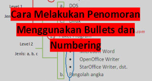 BULLETS NUMBERING